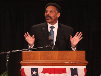 Dallas pastor and broadcaster Tony Evans gave the keynote speech at the National Day of Prayer observance on Capitol Hill on May 5, 2016. RNS photo by Adelle M. Banks