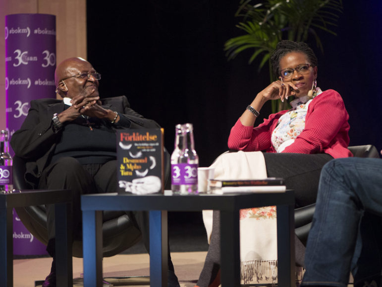 Desmond Tutu, retired South African Anglican archbishop, and his daughter Mpho Tutu talk about their book