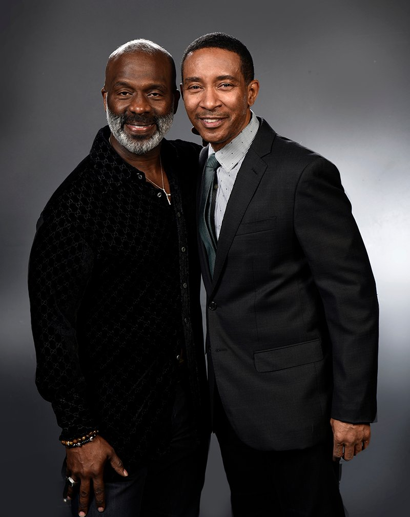 "BeBe Winans, left, and Charles Randolph-Wright, right, have written a musical about Winans called ""Born for This: The BeBe Winans Story."" It premiered in Atlanta in the spring of 2016 and is scheduled to make its Washington, D.C., premiere in the summer. Photo courtesy of Arena Stage at the Mead Center for American Theate"