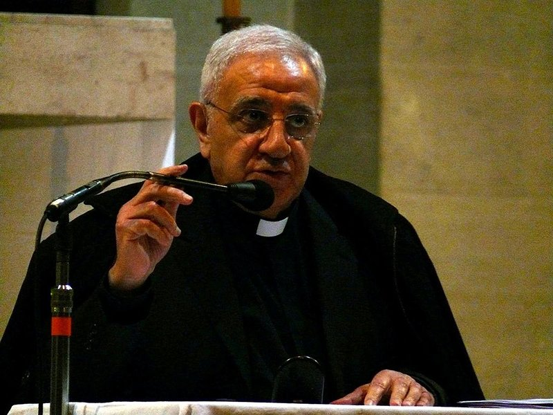 Monsignor Tony Anatrella during a conference in Lille (Nord, France).