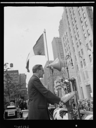 New York, New York. June 6, 1944. Rabbi Stephen S. Wise at the D-day rally in Madison Square.