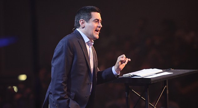 Russell Moore speaks to 1100 attendees at The Justice Conference in Chicago, Illinois. - Image courtesy of The Justice Conference
