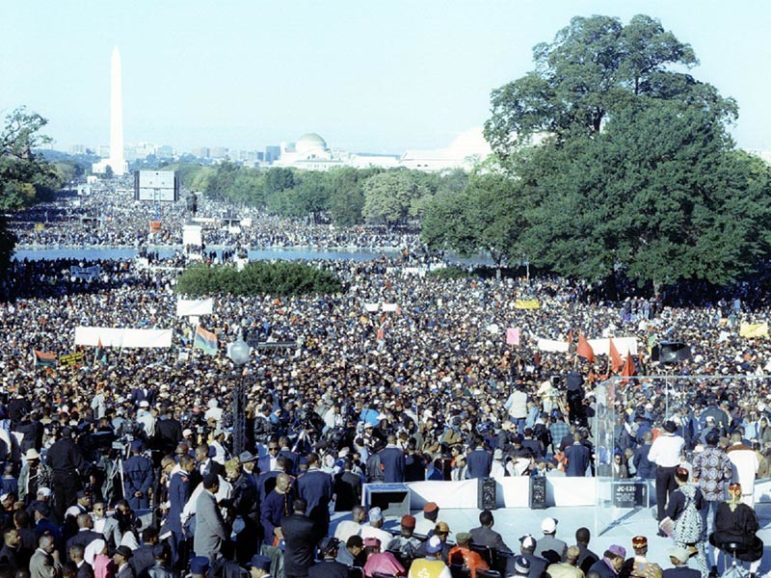 The Million Man March on the National Mall, Oct. 16, 1995, organized by Nation of Islam leader Louis Farrakhan. Photo by Jason Miccolo Johnson.