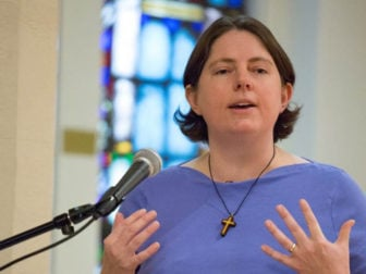 "Clergy members of the Baltimore-Washington Annual Conference, meeting June 1, 2016 in an executive session, did not approve Tara ""T.C."" Morrow for commissioning as a deacon in the United Methodist Church. Photo by Steven D. Martin"