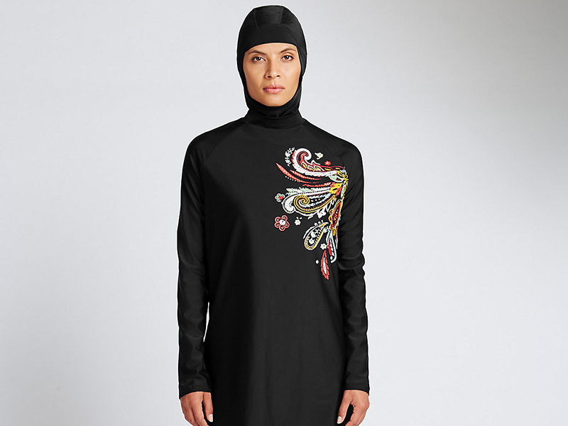 abda27b9190 A burkini full coverage swimsuit sold by British retailer Marks and  Spencer. Photo courtesy of