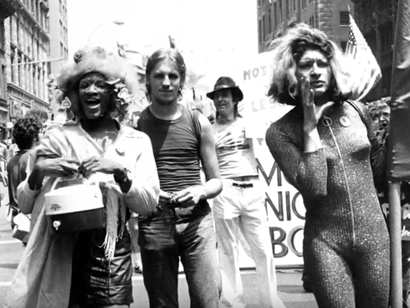 """A scene from """"From Selma to Stonewall,"""" picturing Marsha Johnson and Sylvia Rivera. Photo by Leonard Fink, courtesy of the film"""
