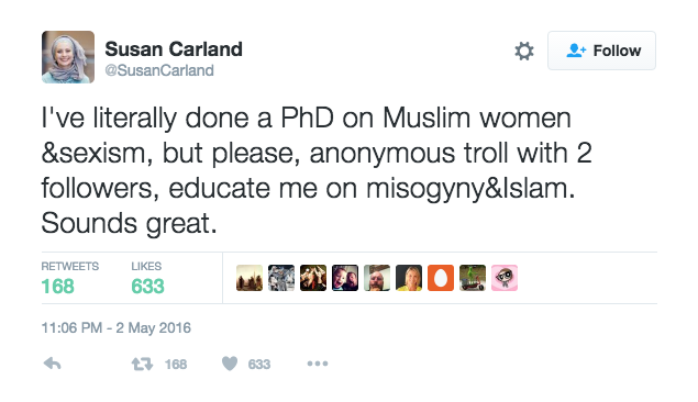 susan carland tweet screenshot