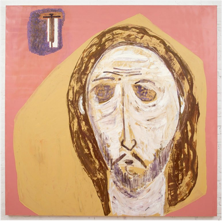 """The first version of  """"Triduum II,"""" a painting by Alfonse Borysewicz. Photo courtesy of Alfonse Borysewicz"""