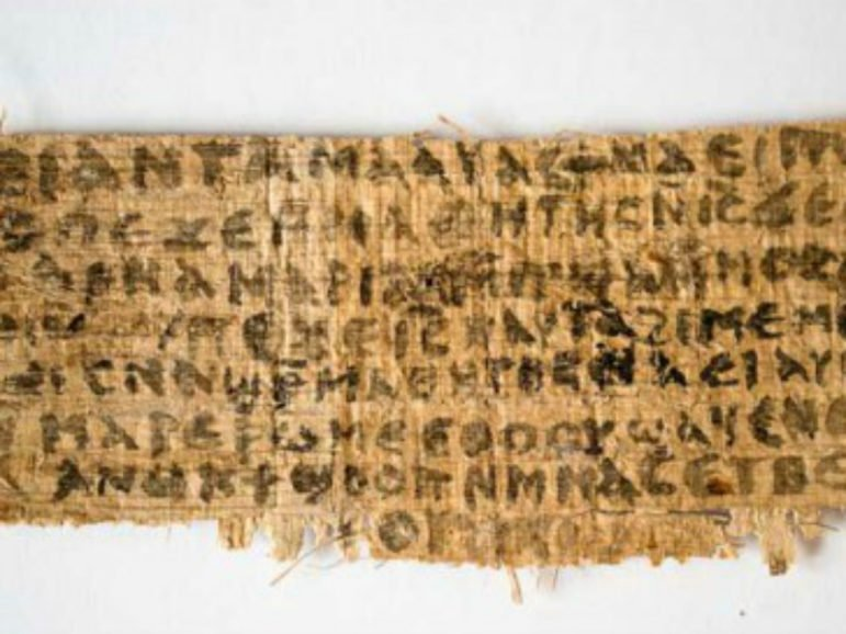The fragment of papyrus that offered fresh evidence that some early Christians believed Jesus was married. Photo courtesy Karen L. King