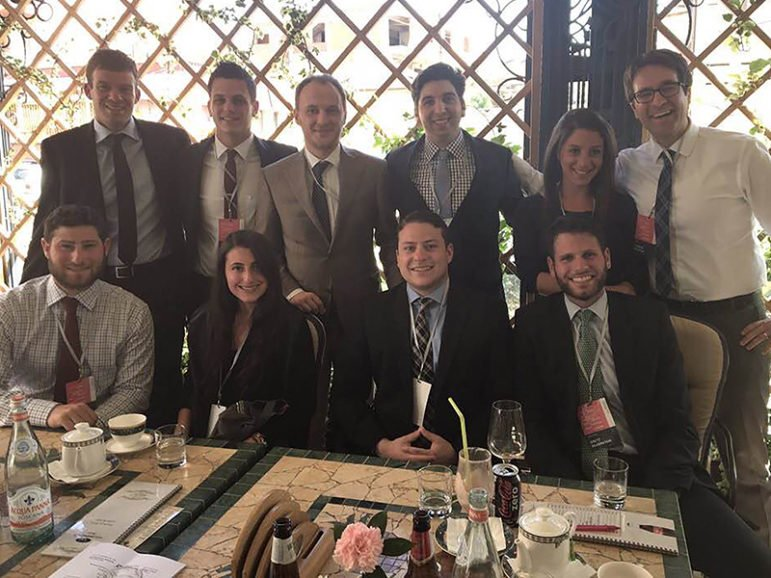 Rabbi Joshua Stanton (back row, far right) accompanied  young Jewish leaders from New York to Kosovo to meet international interfaith leaders in the hope of improving Jewish-Muslim relations back in the U.S. Photo courtesy of Robin Shapiro
