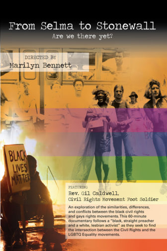 """The film poster for """"From Selma to Stonewall."""" Photo courtesy of the film"""