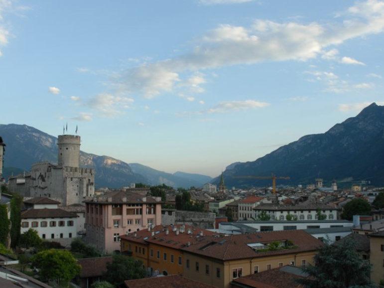 Panoramic view of Trento, Italy.