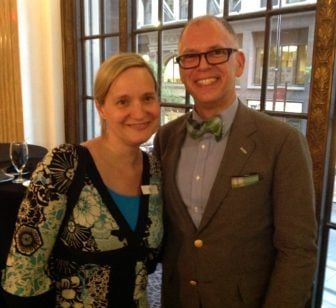 Jana Riess and Jim Obergefell, June 30, 2016. Mercantile Library, Cincinnati.