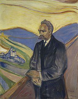 Portrait of Nietzsche by Edvard Munch (1906)