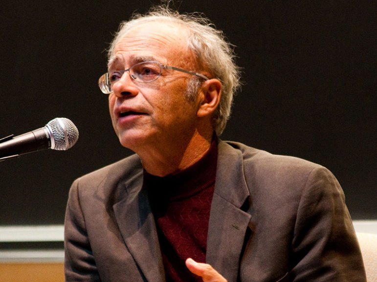 Good people are good to everyone, says moral philosopher Peter Singer, shown here speaking at a college event in 2009,