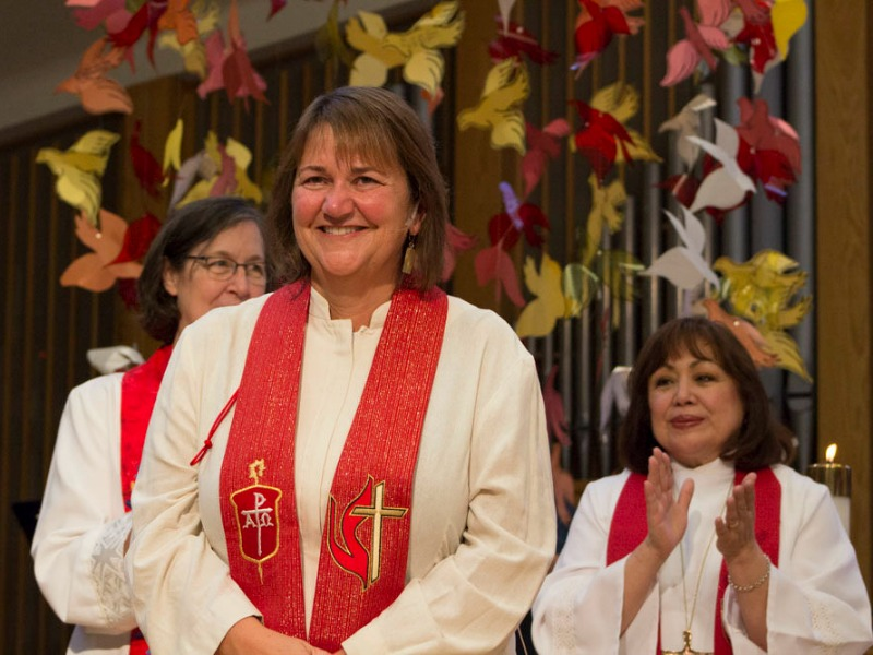 Newly elected Bishop Karen Oliveto