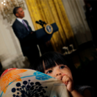 Obama delivers remarks at an Eid al-Fitr reception