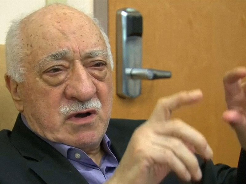 Still image taken from video of U.S.-based cleric Fethullah Gulen, whose followers Turkey blames for a failed coup, speaks to journalists at his home in Saylorsburg
