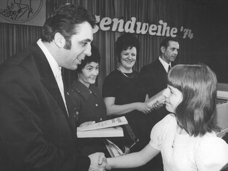 1974 Berlin: Jugendweihe ceremony.