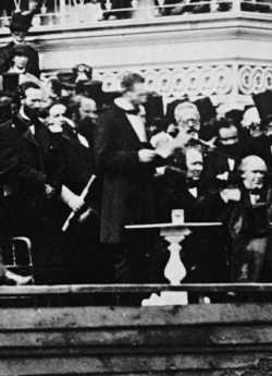 Lincoln delivering his second inaugural address