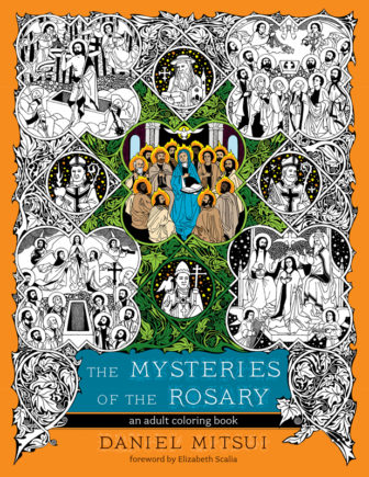 """The Mysteries of the Rosary"" adult coloring book. Photo courtesy of Ave Maria Press"