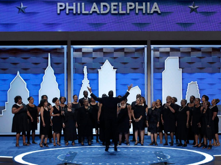 A choir performs before the start of the first day of the Democratic National Convention in Philadelphia on July 25, 2016. Photo courtesy of REUTERS/Mike Segar