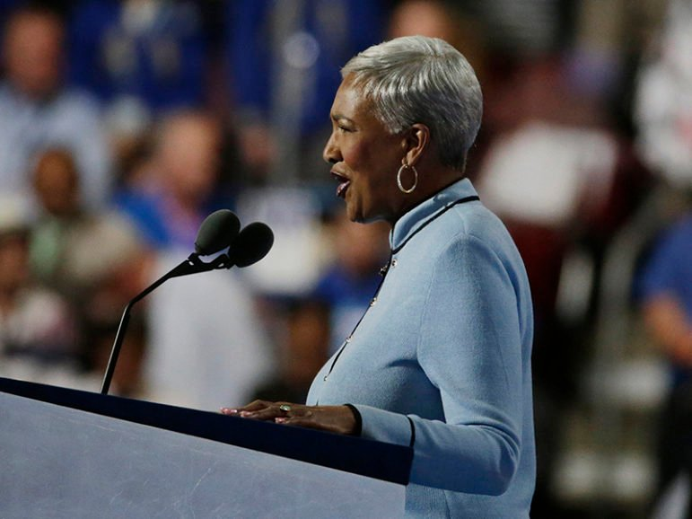 The Rev. Cynthia Hale delivers the invocation at the Democratic National Convention in Philadelphia on July 25, 2016. Photo courtesy of REUTERS/Gary Cameron