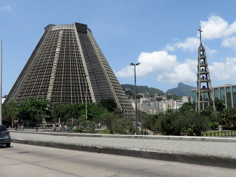 Catedral Metropolitana de São Sebastião, the city's main cathedral, the seat of the Roman Catholic Church in the Brazilian state of Rio de Janeiro. RNS photo by Yonat Shimron