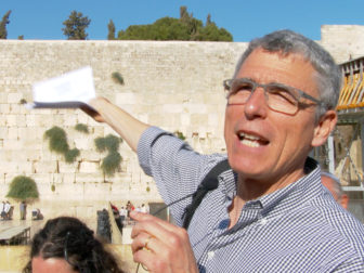 Rabbi Rick Jacobs, President, Union for Reform Judaism, leading a prayer service at the Western Wall in Jerusalem, on July 4, 2016. Photo couretsy of Eli Levy ELP for URJ