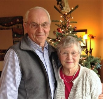 Denny Repko, left, with his wife Carolyn Joyce Repko, is a longtime employee of The Navigators ministry who recalled attending the Northwestern Schools in Minneapolis when Billy Graham was president there in the 1950s. Photo courtesy of Denny Repko