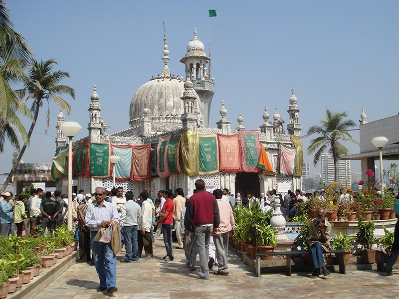 Haji Ali Mosque in Mumbai, India.
