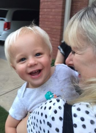 Grandson Jonah, with Jeanie Gushee. Photo by David P. Gushee