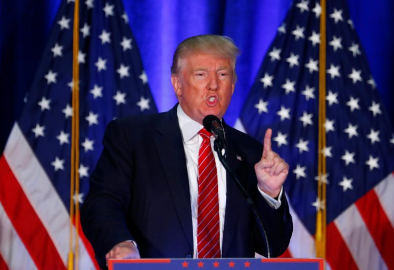 Republican U.S. presidential nominee Donald Trump speaks at Youngstown State University in Youngstown, Ohio on August 15, 2016. Photo courtesy of REUTERS/Eric Thayer  *Editors: This photo may only be republished with RNS-IFTIKHAR-OPED, originally transmitted on August 16, 2016.