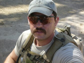 Special Forces Communications Sergeant Tariq Yunis during combat operations around Lake Thar Thar, Iraq. Photo courtesy Tariq Yunis