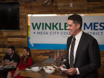 Ryan Winkleman, a humanist, is involved in a close race for city council in Mesa, Arizona. Jim Hesterman