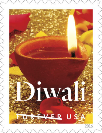 The Postal Service will commemorate the joyous Hindu festival of Diwali with a Forever stamp. Photo courtesy of USPS