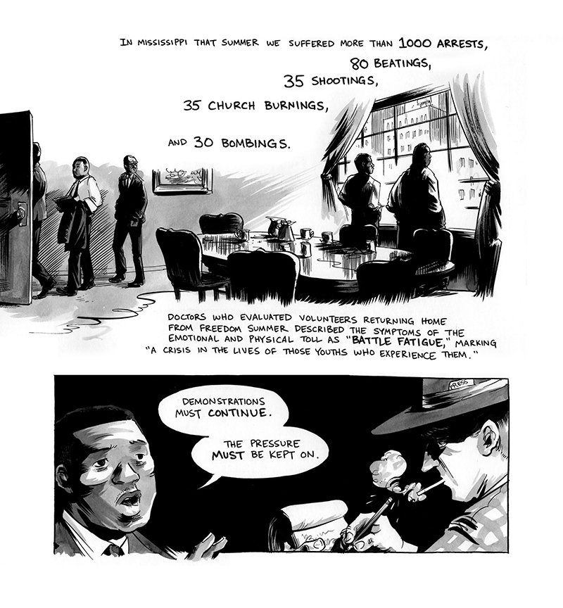 """An illustration inside """"March"""" book three. Photo courtesy of Top Shelf Productions"""