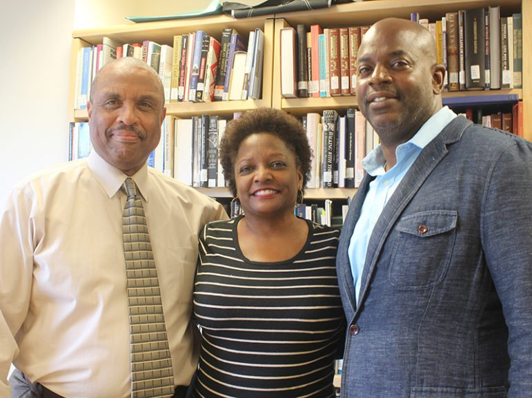 Rex Ellis, Deborah Tulani Salahu-Din and Aaron Bryant all work on the curatorial staff of the National Museum of African American History and Culture. RNS photo by Adelle M. Banks