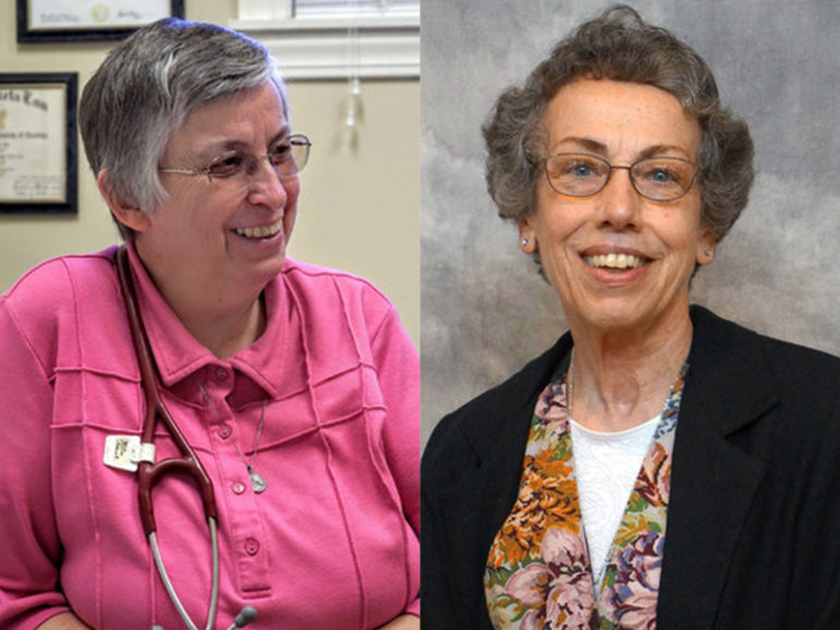 Sister Paula J. Merrill, left, and Sister Margaret M. Held, right, were found stabbed to death on Thursday, Aug. 25, 2016, at their home in central Mississippi. Police are investigating the case as a robbery that escalated into murder. Merrill photo courtesy of Sisters of Charity. Held photo courtesy of Michael O'Loughlin/School Sisters of St. Francis