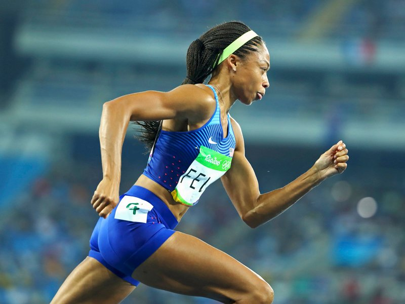 Allyson Felix. Photo courtesy of REUTERS/Lucy Nicholson