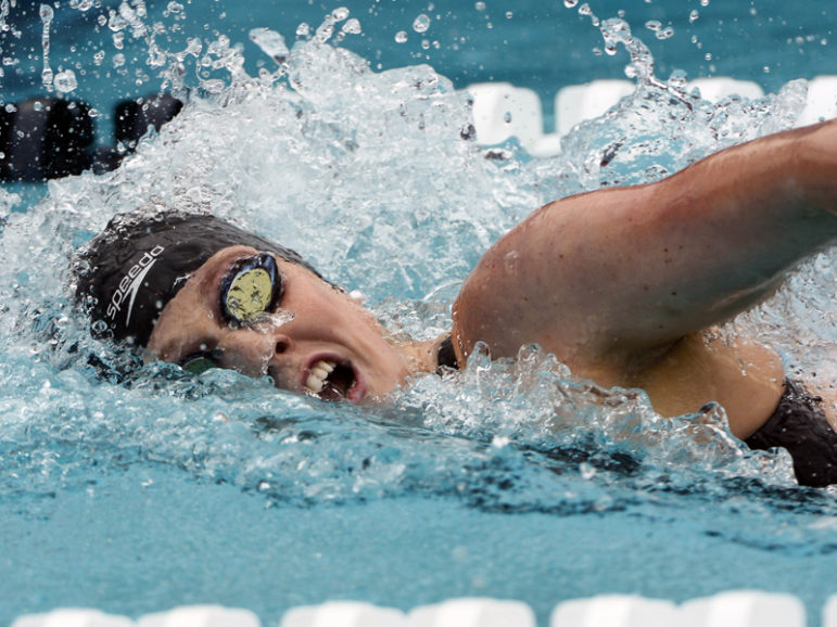Missy Franklin swims a 1.55:79 in preliminaries for the women's 200-meter freestyle during the USA Swimming Nationals at William Woollett Jr. Aquatics Complex. Photo courtesy of Robert Hanashiro-USA TODAY Sports/File photo, via Reuters