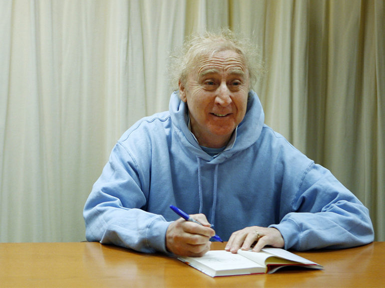 "Actor and author Gene Wilder poses as he autographs his book ""The Woman Who Wouldn't"" during a book signing session in New York March 26, 2008.  Photo courtesy of REUTERS/Lucas Jackson *Editors: This photo may only be republished with RNS-SALKIN-OPED, originally transmitted on August 30, 2016."