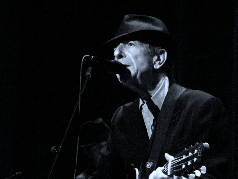 Leonard Cohen at the Arena in Geneva, Oct. 27, 2008. Courtesy of Rama/Creative Commons license.
