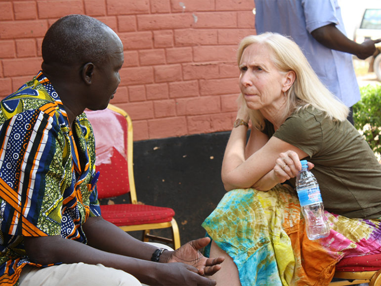 Development Associates International President/CEO Jane Overstreet, right, participates in a Servant Leadership workshop in Juba, South Sudan, on March 19, 2013. Photo courtesy of Caleb Overstreet via Development Associates International