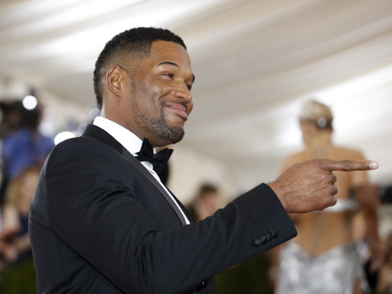 Television host and former NFL football player Michael Strahan arrives at the Metropolitan Museum of Art Costume Institute Gala (Met Gala) to celebrate the opening of