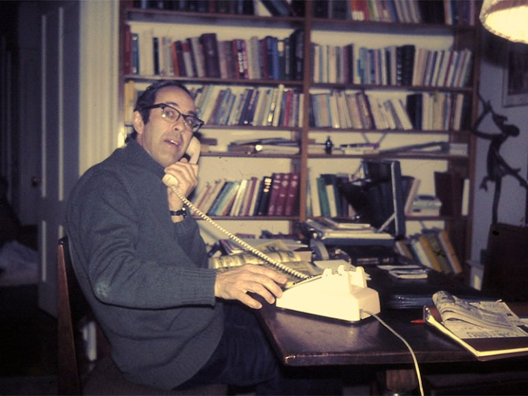 Henri Nouwen at his New Haven apartment circa 1981. Photo courtesy of Jim Forest via Flickr Commons