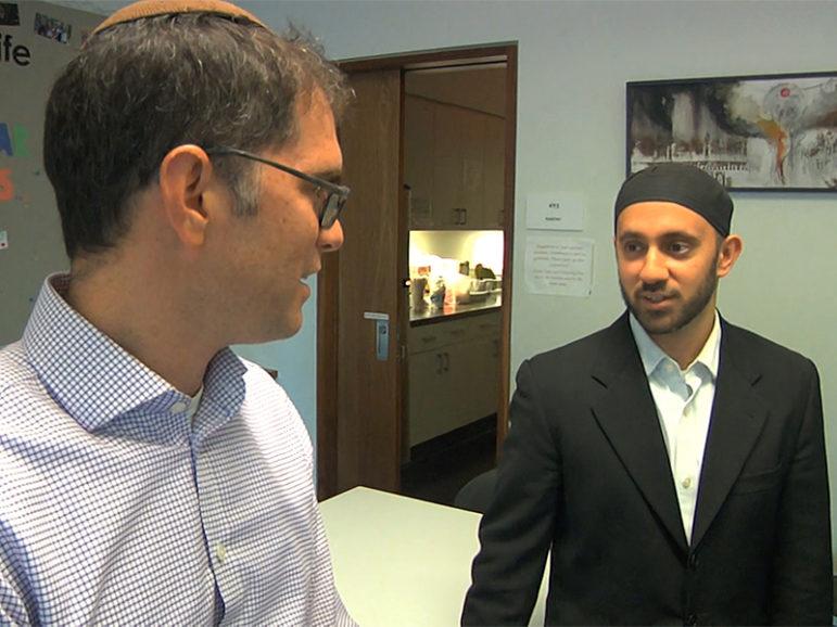 Rabbi Yehuda Sarna, left, and Imam Khalid Latif are chaplains at New York University. Photo courtesy of Religion and Ethics NewsWeekly
