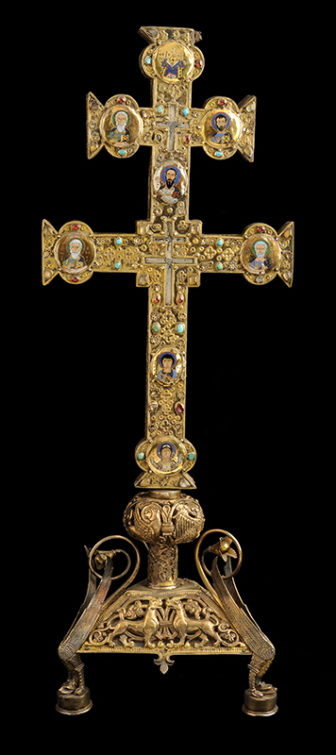 Reliquary Cross of Jacques de Vitry Enamels: Byzantium, about 1160 – 80; cross: Acre, soon after 1216; base: Oignies, after 1228