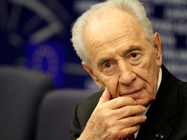 Shimon Peres attends a press conference at the European Parliament in Strasbourg, France on March 12, 2013. Photo courtesy of Reuters/Jean-Marc Loos/File Photo *Editors: This photo may only be republished with RNS-SALKIN-OPED, originally transmitted on Sept. 28, 2016.