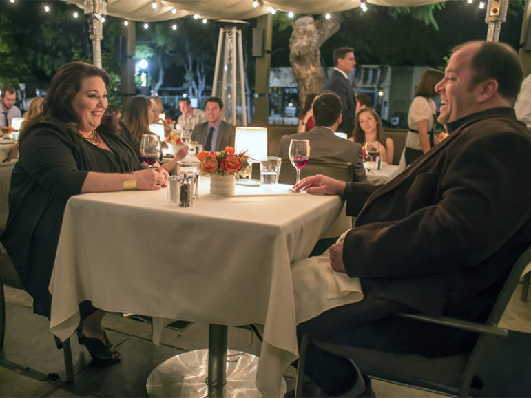 Chrissy Metz as Kate, left, Chris Sullivan as Toby in This Is Us on NBC. Photo by Ron Batzdorff/NBC